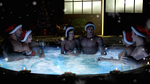 Christmas in the jacuzzi by Taitiii