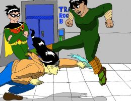 Neji and Lee's Sparring Session by Afalstein