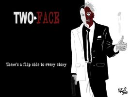Two-Face, Scarface style by daredeviant
