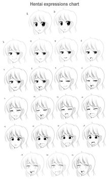 Hentai expressions reference chart by SaintxTail