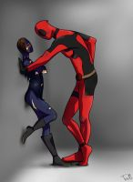 Deadpool and Click by TheCookieWithRaisins