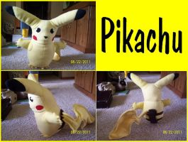 Pikachu Plushie by Destiny-The-Hedgimon