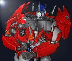 Optimus and Causeway-Transformers Prime-Completed- by Lady-ElitaOne