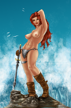Red Sonja collab with Dseter by Glorifin