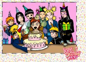 Happy B-day Gaara by Sassgardian