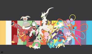 Mythical Pokemon Minimalist Wallpaper by slezzy7