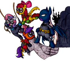 Batmare and the Crusaders. by Darkone10