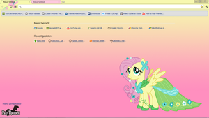 Fluttershy Google Chrome Theme by Julien12826