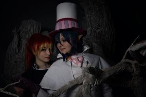 Ao No Exorcist: Mephisto and Shura by JonneCat