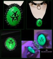 Biohazard brooch by Cyb30RiaN