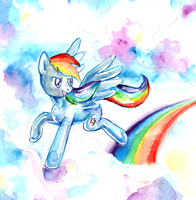 Watercolor Rainbow Dash by lotothetrickster