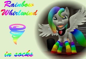Rainbow Whirlwind in socks by Neros1990