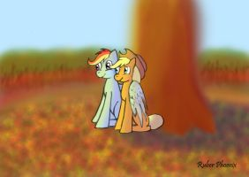 Under the apple tree by RuberPhoenix