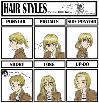 Hairstyle meme with Armin by Gwendoly