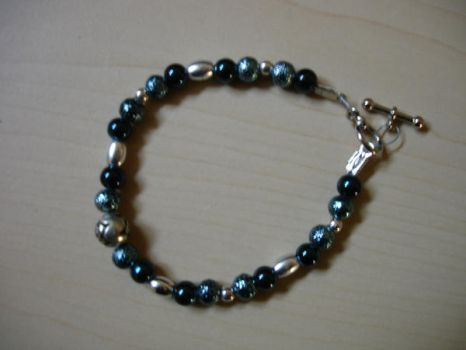 Bead Play Blue Rose Bracelet by patchpuss