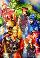 The Avengers by chriztaychuang