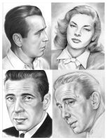 Bogart and Bacall by gregchapin
