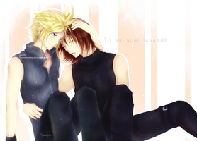 Cloud and Genesis : Commission by Tammi-sempai