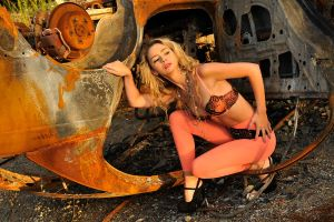 Jasmine and rusted wreck 1 by wildplaces