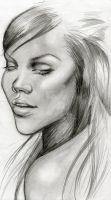 Another Rihanna sketch by Faffinette