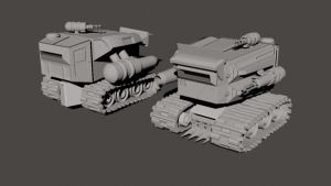 Tank WIP front back by Eckko