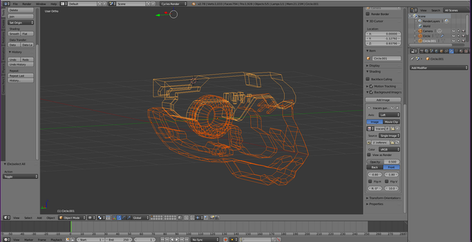 Tracers Gun Take One Wireframe by Pathious