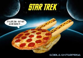 Star Trek - Edible Enterprise by mikedaws