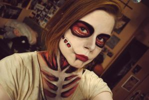Attack On Titan Annie Cosplay facepaint by mirawinchest