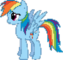 Pix-Art Rainbow Dash Vector by uxyd