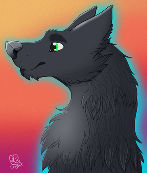 Wolf Bust Commission by Caitybee