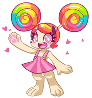 Super happy lollipop girl by LoulouVZ