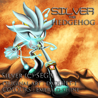 Silver the Hedghog colab:daQUIET-1 by Emerald-shine