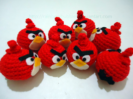 Angry Birds Amigurumi by Rainbowbubbles
