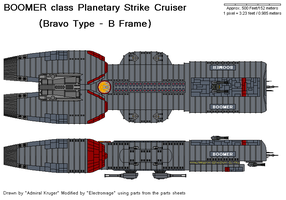 Boomer Planetary StrikeCruiser by The-Electromage