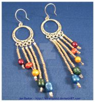 Pearl Rainbow Earrings by WireMySoul
