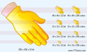 Gloved hand Icon by medical-icon-set