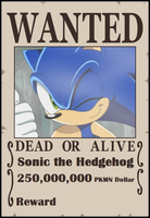 SPBWX Wanted Poster Sonic by Aquamimi123