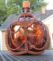 Copper Bottle by chainmaille