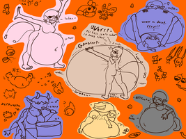 There are Two Bare Male Butts in this Doodle Dump by Axlwisp