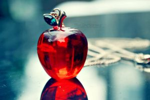 Red apple wallpaper by EliseEnchanted