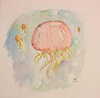 Watercolor Jellyfish by TemperTempest