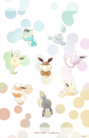 PKMN: Eeveelutions by Inedible-Sushi