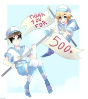 Thank You For 500 Watchers! by Toukoni