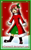 Kingdom Hearts Christmas-Kairi by AJanime12