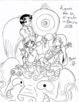 Naruto: Team Gai in Beijin by Bellette