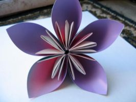 Origami kusudama flower 2 by OrigamiGenius