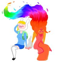 Fionna and Flame Princess by thedoctorsginger