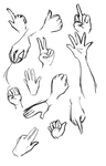 Hand Practice by faintlaughter