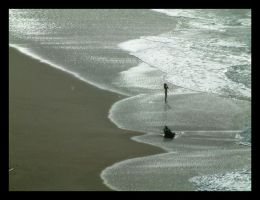 alone on the beach by Titareco