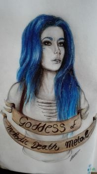 Goddess of Melodic Death Metal by jud-ferrer